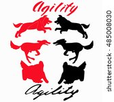Dog Agility Sport Illustration...