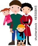 family | Shutterstock .eps vector #48500845