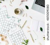 wedding planner schedule... | Shutterstock . vector #485009080
