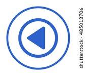 play  icon vector.  flat design. | Shutterstock .eps vector #485013706
