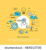 line flat vector business... | Shutterstock .eps vector #485013730
