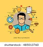 line flat vector business... | Shutterstock .eps vector #485013760