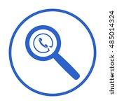 phone  icon vector. flat... | Shutterstock .eps vector #485014324