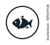 fish icon | Shutterstock .eps vector #485019538
