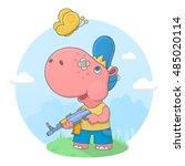 vector illustration of a small...   Shutterstock .eps vector #485020114