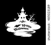 happy halloween funny abstract... | Shutterstock .eps vector #485023189