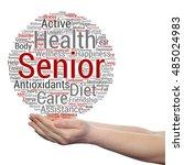 concept conceptual old senior... | Shutterstock . vector #485024983