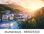 parga port   greek island  ... | Shutterstock . vector #485025310
