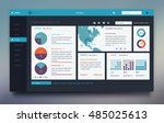 website interface template... | Shutterstock .eps vector #485025613