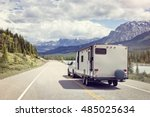 caravan or recreational vehicle ... | Shutterstock . vector #485025634