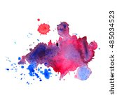 expressive abstract watercolor... | Shutterstock .eps vector #485034523