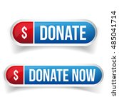 donate and donate now button | Shutterstock .eps vector #485041714
