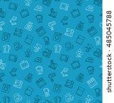 appliances seamless pattern... | Shutterstock .eps vector #485045788