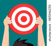 the target is for you. flat... | Shutterstock .eps vector #485046250