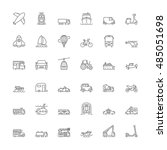 thin line icons set. flat... | Shutterstock .eps vector #485051698