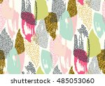 vector seamless pattern with... | Shutterstock .eps vector #485053060