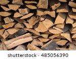 natural wooden background ... | Shutterstock . vector #485056390