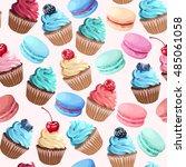 sweets seamless pattern | Shutterstock .eps vector #485061058