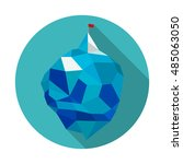 icon of iceberg. low poly... | Shutterstock .eps vector #485063050