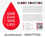 blood donation horizontal... | Shutterstock .eps vector #485077930
