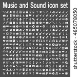 music and sound icon set  | Shutterstock .eps vector #485078050