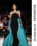 Small photo of New York, NY, USA - September 9, 2016: Alexandra Agoston walks runway for the Christian Siriano Spring/Summer 2017 runway show during New York Fashion Week SS 2017 at The ArtBeam, Manhattan