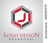 j letter in the hexagonal logo. ...