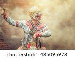 art culture thailand dancing in ...   Shutterstock . vector #485095978
