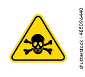 skull danger sign.  | Shutterstock . vector #485096440