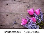 background with  lilac  and...   Shutterstock . vector #485104558