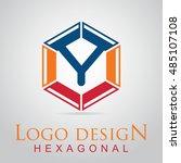 y letter in the hexagonal logo. ...