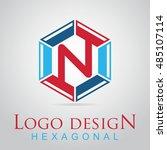 n letter in the hexagonal logo. ...