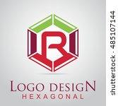 r letter in the hexagonal logo. ...