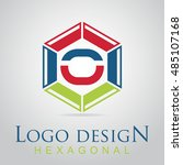 o letter in the hexagonal logo. ...