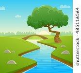 cartoon illustration of summer... | Shutterstock .eps vector #485116564