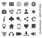 social media icon set. for... | Shutterstock .eps vector #485119144