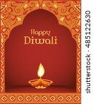 happy diwali. traditional...   Shutterstock .eps vector #485122630