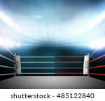 boxing ring with illumination... | Shutterstock . vector #485122840