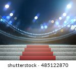stage lighting background 3d... | Shutterstock . vector #485122870