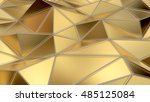 luxury gold abstract low poly... | Shutterstock . vector #485125084