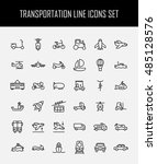 set of transportation icons in... | Shutterstock .eps vector #485128576