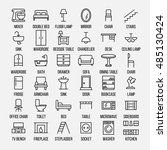 set of furniture icons in... | Shutterstock .eps vector #485130424