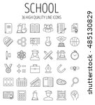 education and back to school... | Shutterstock .eps vector #485130829