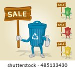 recycle bin sale thumb up | Shutterstock .eps vector #485133430