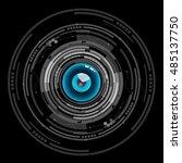 nice blue eyeball digital...   Shutterstock .eps vector #485137750
