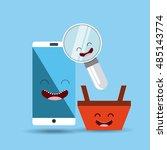 buy online character icon... | Shutterstock .eps vector #485143774