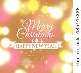 merry christmas e card template.... | Shutterstock .eps vector #485147338