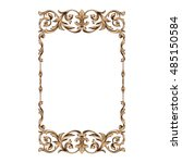 vintage baroque frame scroll... | Shutterstock .eps vector #485150584