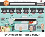 website template flat design...