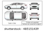 car sedan and suv drawing... | Shutterstock .eps vector #485151439